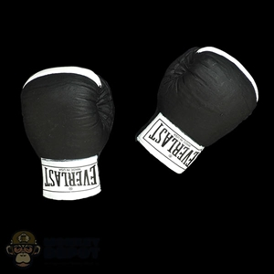 Gloves: Storm Collectibles Mens Black Everlast Boxing Gloves