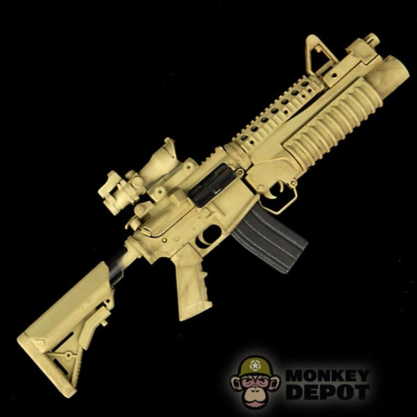 monkey depot rifle toys city m4 carbine w 203 acog