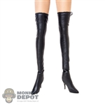 Boots: TF Toys Black Cloth Mid Thigh Boots
