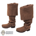 Boots: Third Party Mens Brown Bucket Boots w/Ankle Pegst