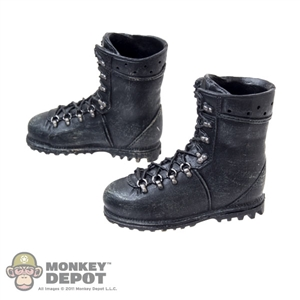 Boots: Toys Works Black Molded Boots
