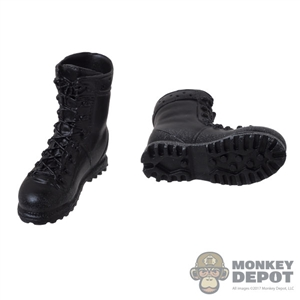 Boots: Toys Works Black Weathered Molded Boots