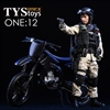 Bike: TYS Toys 1/12 Scale Black Motorcycle (TYS-18DT05)