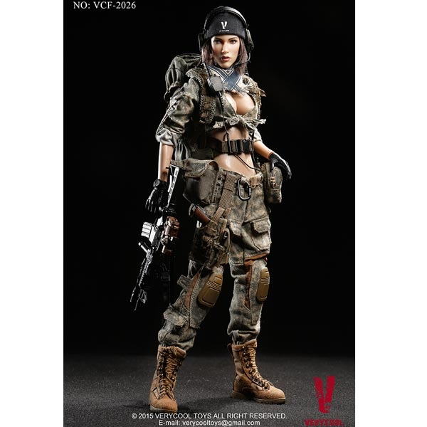 monkey depot boxed figure very cool acu camo female shooter vcf