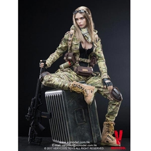 Boxed Figure: Very Cool MC Camouflage Women Soldier Villa (VCF-2031)