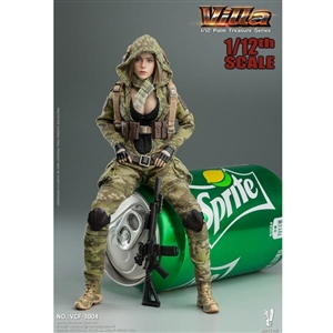 Very Cool 1:12 MC Camouflage Women Soldier - Villa (VCF-3004)