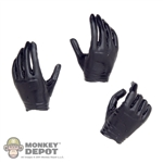Hands: Very Cool Black Gloved Hand Set