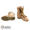 Boots: Very Cool Female Brown Tactical Boots