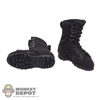 Boots: Very Cool Female Black Tactical Boots