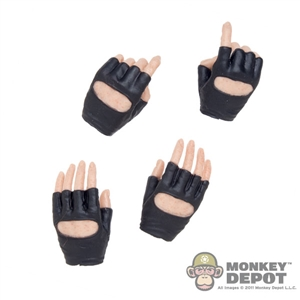 Hands: Very Cool Molded Fingerless Gloved Hand Set