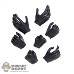 Hands: Very Cool Female Black  Molded Hand Set