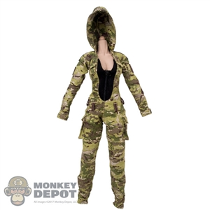 Uniform: Very Cool Female Camouflage Tactical Jumpsuit