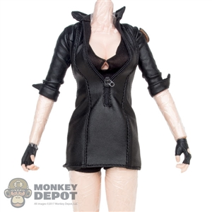 Dress: Very Cool Black Leatherlike Outfit w/Patch