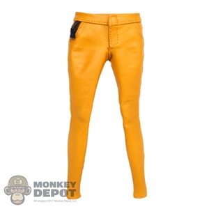 Pants: Very Cool Female Yellow Leatherlike Pants