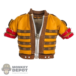 Coat: Very Cool Yellow Midriff-Baring Leatherlike Jacket