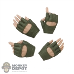 Hands: Very Cool Female Green Molded Fingerless Gloves