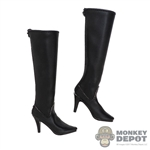 Boots: Very Cool Black Zipper Boots