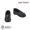 Shoes: Very Cool 1:12 Female Black Molded Shoes