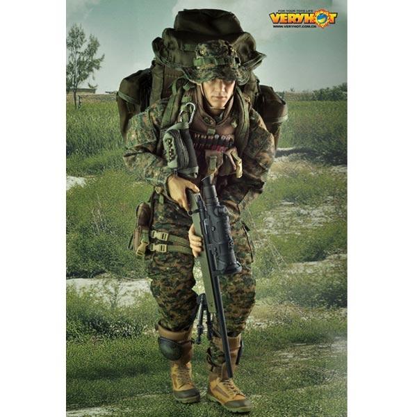 1//6 Very Hot Modern Era Large Rucksack USMC Sniper