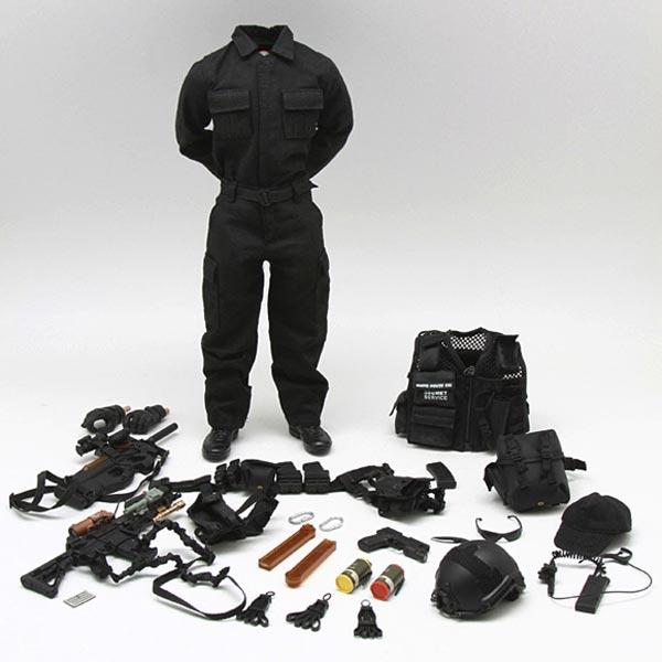 Helmet Set Very Hot Toys 1//6th Scale US Secret Service Emergency Response