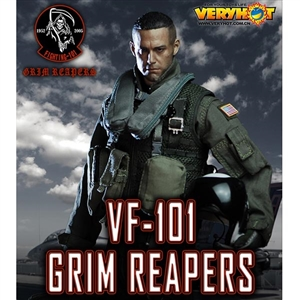 Uniform Set: Very Hot US Navy VF-101 Grim Reapers Pilot (VH-1049)