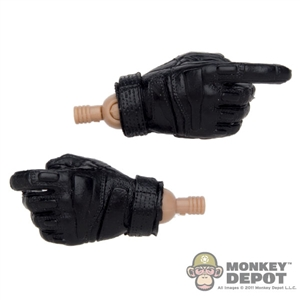 Hands: Very Hot Black Tactical Gloves
