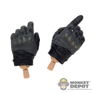 Black/Gray Tactical Gloves