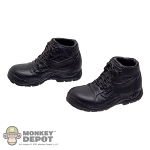 Boots: Very Hot Black High Top Sneakers (No Ankle Pegs)