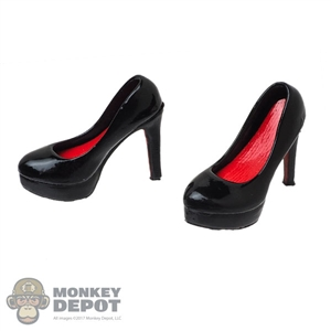 Shoes: VS Toys Black & Red High Heeled Shoes