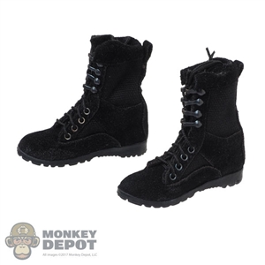 Boots: VS Toys Female Black Tactical Boots