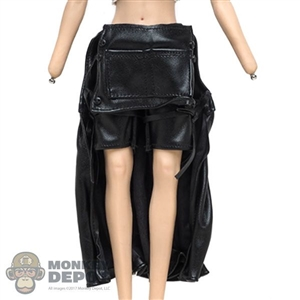 Dress: VS Toys Female Black Leather-Like Maxi Skirt