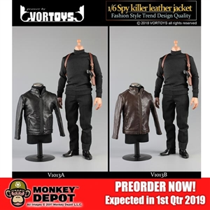 Outfit Set: VorToys Spy Killer Leather Jacket (VOR-1013)