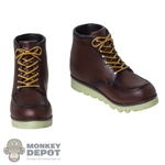 Boots: World Box Mens Molded Moc Toe Boots