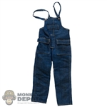 Bib: World Box Mens Weathered Denim Overalls