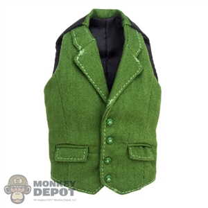 Vest: Wolf King Female Green Vest