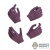 Hands: Wolf King Female Purple Molded Hand Set