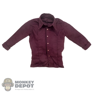 Shirt: Wolf King Burgundy Western Shirt