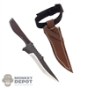 Knife: Wolf King Fixed Blade w/Leg Sheath