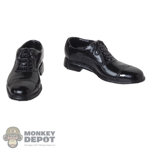 Shoes: Warrior Model Mens Black Molded Dress Shoes