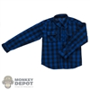 Shirt: XRF Mens Blue Plaid Long Sleeve Shirt