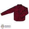 Shirt: XRF Mens Red Plaid Long Sleeve Shirt