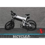 Bicycle: X Toys 1/6 Folding Bike - White (XT-009A)