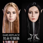 Head: YM Toys Female Head w/Interchangeable Ears (YMT-09)