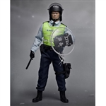 Boxed Figure: ZC World - Police Tactical Unit Sergeant Black (ZC-189)