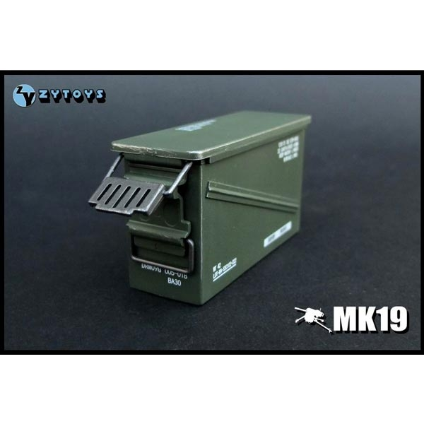 Monkey Depot Rifle Zy Toys 1 6 Mk19 Ammo Box Zy 8030a