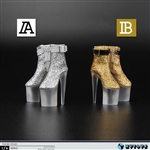 ZY Toys Female Silver or Gold Platform Shoes (ZY-1020)