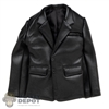 Coat: ZY Toys Mens Black Leather Coat
