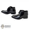 Boots: ZY Toys Mens Black Dress Shoes