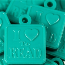 School Reading Awards | Teal - I Love to Read Plaque