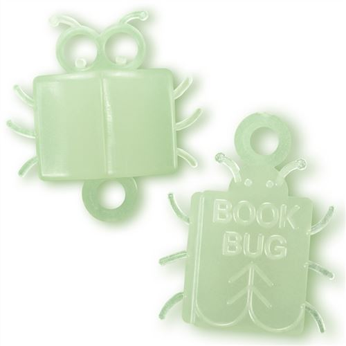"Bug-shaped reading incentive for children. Glows in the dark! (1"" tall.)"